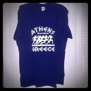 Athens Marathon Greece graphic tee shirt sz XL